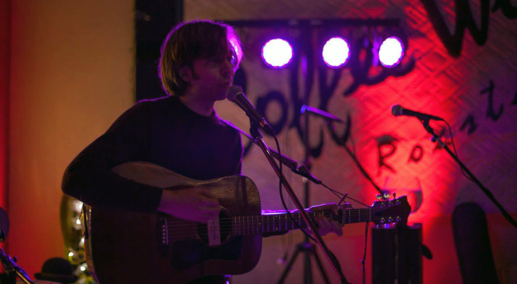 Michael Youngkin performs at Coffee Works in Voorhees, N.J.